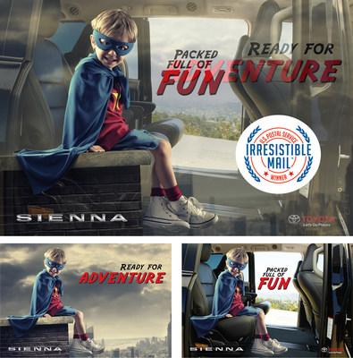 "GS Marketing's Toyota Sienna ""Superhero"" mailer designed for Gulf States Toyota."