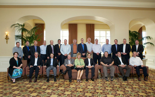The Ninth Audatex Semi-Annual Strategic Advisory Council Meeting was attended by a rich cross section of leaders from the automotive insurance claims and collision repairer sectors along with the Audatex senior management team.  (PRNewsFoto/Audatex North America, Inc.)