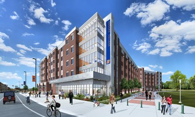 Rendering of the Honors College and First-Year Residence Hall EdR is financing and building at Boise State University.  EdR will also manage the community upon completion in summer 2017.