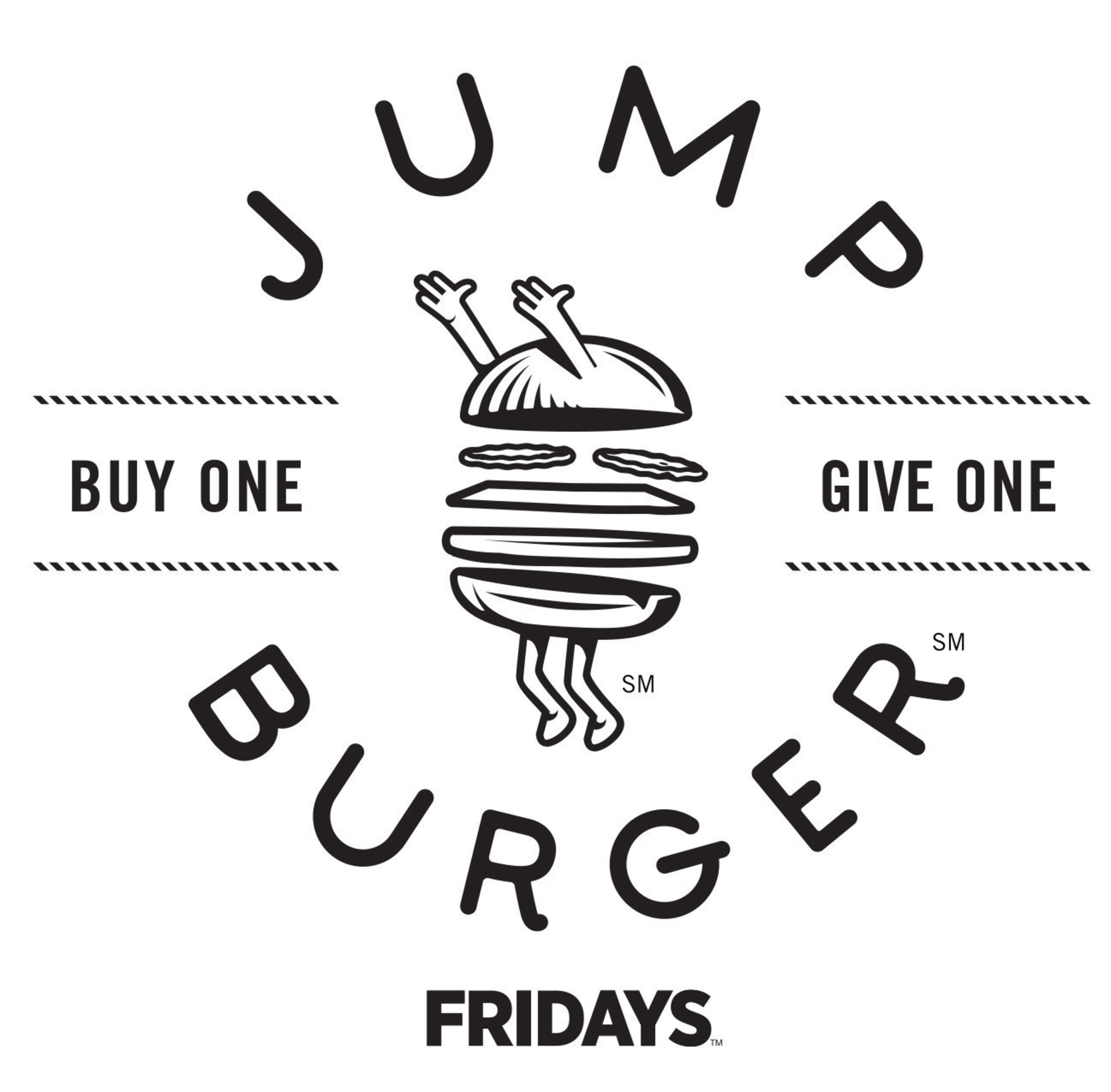 Buy any one of Fridays hand-crafted burgers and enter the code on the receipt at www.jumpburger.com, and you'll get a FREE burger to toss out on your social networks, or to email to friends.