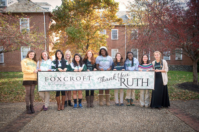 Students at Foxcroft School in rural Virginia thank alumna Ruth Bedford for her unexpected and transformative bequest of $40 million.  The gift is the largest ever bestowed on a girls' secondary school.  Photo: Bob Updegrove