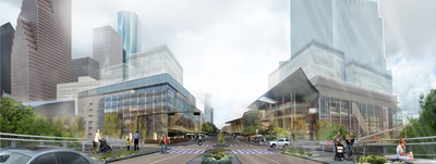 Rendering of proposed Theater District Civic Corridor