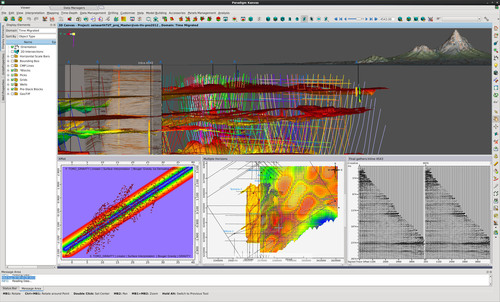 Structural data, pre-stack and post-stack, crossplot, maps and GeoTIFFs visualized on the open and integrated Epic platform.  (PRNewsFoto/Paradigm)