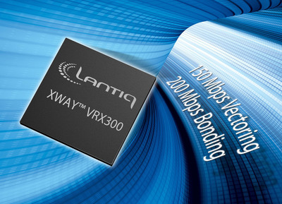 With the Lantiq XWAY(tm) VRX300 VDSL2/2  chipset, telecom carriers can implement home router/gateway systems with 100 - 200 Mbit/s broadband data rates to support advanced home media and Internet services. More information: www.lantiq.com/vrx300.  (PRNewsFoto/Lantiq)
