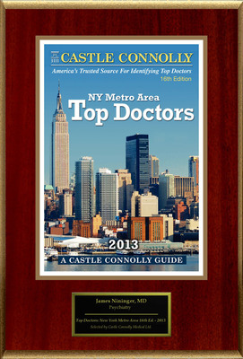 Dr. James Nininger, Psychiatry, is named a Top Doctor: New York Metro Area.  (PRNewsFoto/American Registry)
