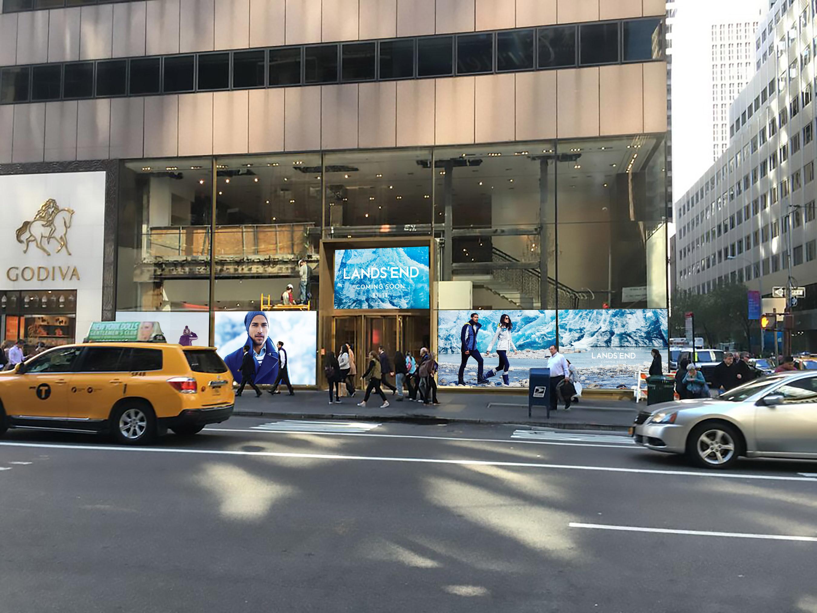 Lands' End pop-up shop in New York