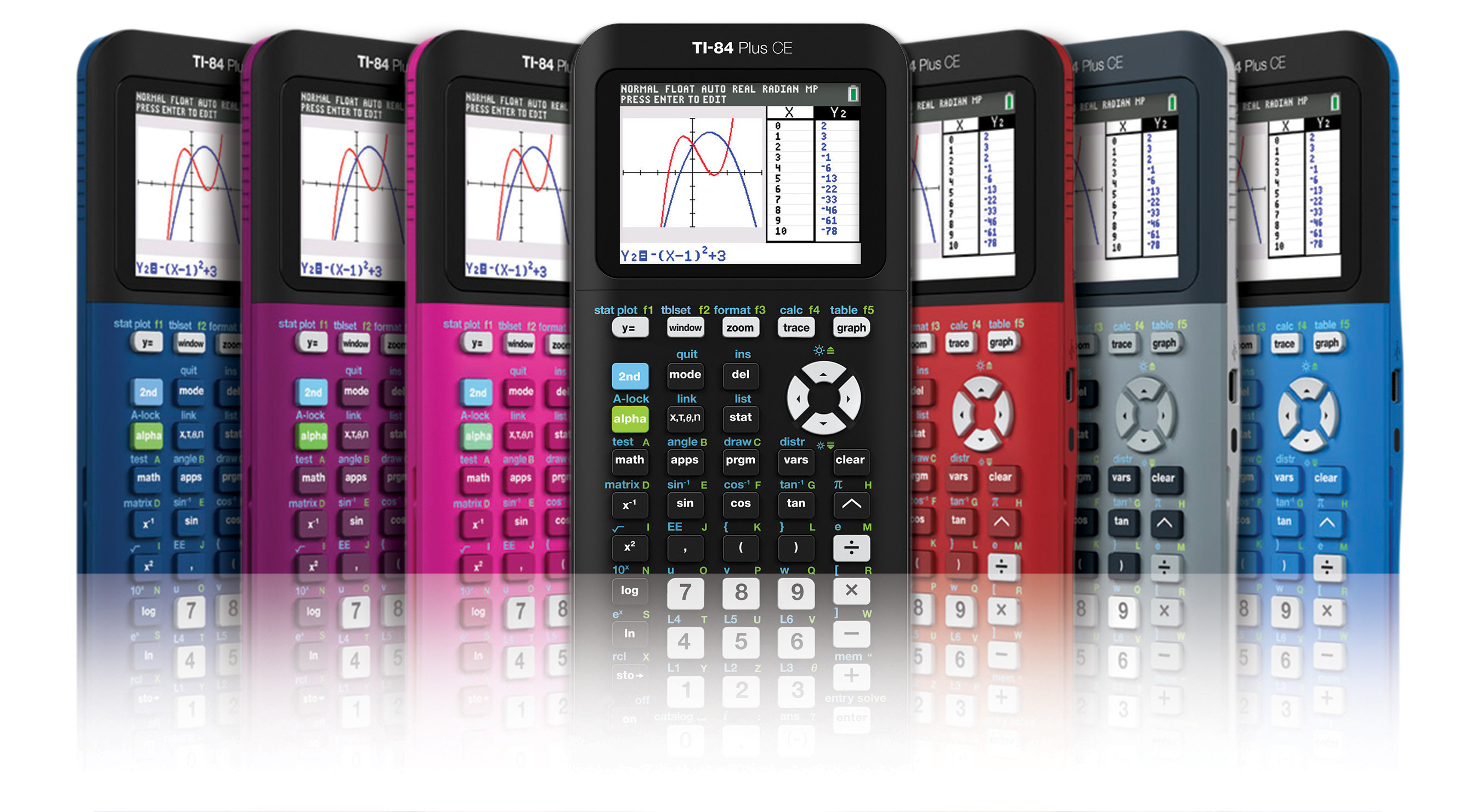Now 30 percent thinner and 30 percent lighter students can express their own personal style by choosing their TI-84 Plus CE from a variety of colors.