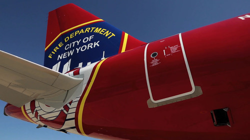 JetBlue, New York's Hometown Airline(TM), Debuts  'Blue Bravest' Livery, Dedicated to the FDNY Foundation.  (PRNewsFoto/JetBlue Airways)