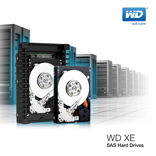 WD(R) 3.5-Inch SAS WD XE(TM) Hard Drives Offer Flexibility, Extension Of Datacenter Hardware Investments.  (PRNewsFoto/WD)