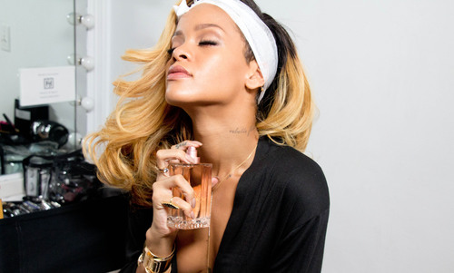 Behind The Scenes Image From The Rogue by Rihanna Campaign. (PRNewsFoto/Parlux Fragrances LTD) ...