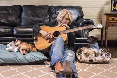 Miranda and her dogs Bellamy and Delta Dawn