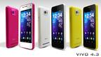 New VIVO 4.3 colors!  (PRNewsFoto/BLU Products)