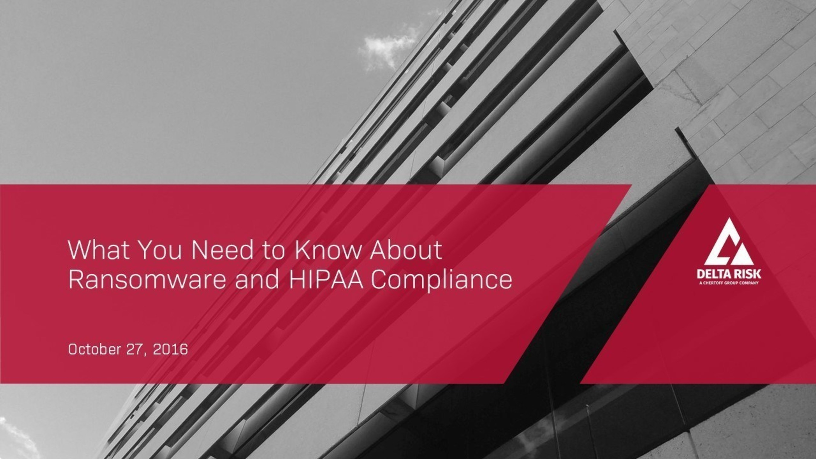 "Chris Hendricks, Vice President of Security Operations for Delta Risk, will be joined by Garrett Gross, Director of Field Enablement for AlienVault, for the live webinar, ""What You Need to Know About Ransomware and HIPAA Compliance."" The two will discuss the financial and regulatory impact of ransomware attacks, and a strategy to address them that includes awareness training, exercises, and an incident response plan; tools for vulnerability assessment, asset discovery, audits, and backup tests; and how to use monitoring, analysis, and compromise assessments."