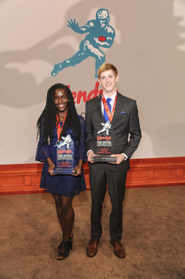 Wendy's announced Frelicia Tucker of Aiken, South Carolina and Daniel Orcutt of Fort Walton Beach, Florida as the 2016 Wendy's Heisman National Winners. The award recognizes the high school seniors who have gone to the greatest lengths to be the best students, athletes and community leaders. For their dedication and hard work, Frelicia and Daniel will each receive a $10,000 scholarship and appear on the collegiate Heisman Memorial Trophy presentation. Visit www.WendysHeisman.com to find out more about the two National Winners.