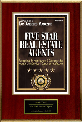 "Randy Troup Selected For ""Five Star Real Estate Agents"".  (PRNewsFoto/American Registry)"