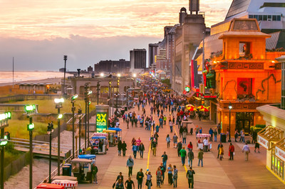 Atlantic City's iconic Boardwalk, voted one of the best in the country.