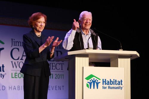 President and Mrs. Carter Join Hundreds of Volunteers in Atlanta Before Departing for Haiti for