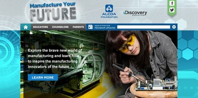 "Alcoa Foundation and Discovery Education's ""Manufacture Your Future"" online site (PRNewsFoto/Discovery Education)"