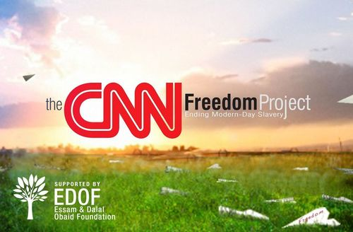 EDOF and CNN Freedom Project - Joining forces to end modern-day slavery. (PRNewsFoto/EDOF Org)