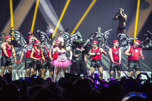 Halloween New Orleans partygoers flaunt their finest Halloween get-ups as part of the costume contest, a ...