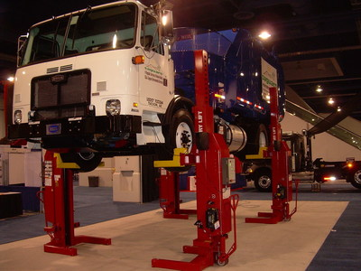 Rotary Lift's wireless Mach(TM) Series mobile column lifts are the kind of leading edge equipment refuse repairs shops are using to attract top-notch technicians. Rotary Lift will have a wireless Mach Series mobile column lift in its booth at WasteExpo June 7-9 at the Las Vegas Convention Center.
