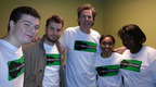 John Taylor of Duran Duran with RecoveryTrax participants.  (PRNewsFoto/Hotathon)