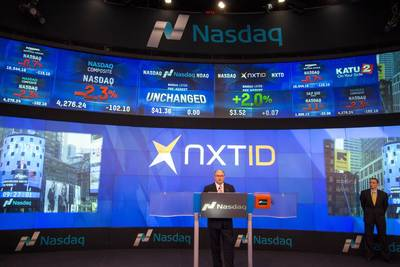 NXT-ID Inc. Rings the Opening Bell of the NASDAQ Stock Market October 13th.
