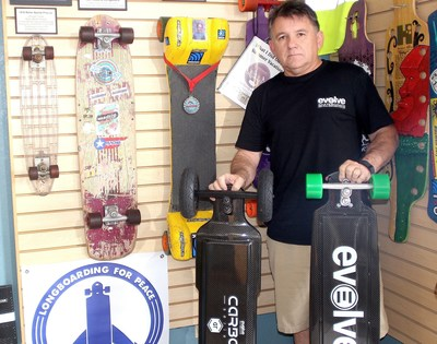 Morro Bay, CA Skateboard Museum Founder to ride the first electric skateboard across USA