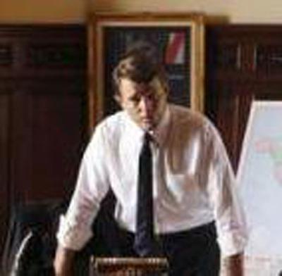 Brett Stimely portraying JFK.  (PRNewsFoto/Brett Stimely)