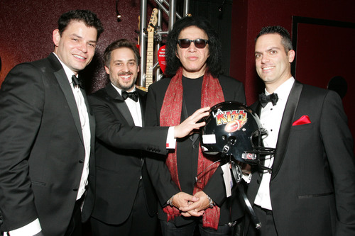 KISS founder and bassist Gene Simmons with Tongal founders, Mark Burrell, James De Julio and Rob Salvatore - ...