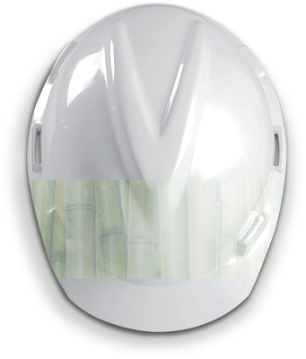 "MSA's line of V-Gard(R) hard hats, identified by a raised ""V-shaped"" crown, now includes a ""green"" version, produced from nearly 100 percent renewable resources.  (PRNewsFoto/MSA)"