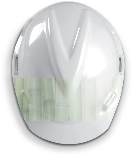 "MSA's line of V-Gard(R) hard hats, identified by a raised ""V-shaped"" crown, now includes a ""green"" version, produced from nearly 100 percent renewable resources. (PRNewsFoto/MSA) (PRNewsFoto/MSA)"