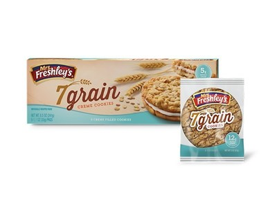 Mrs. Freshley's new 7 Grain Creme Cookies and & Grain Cookies