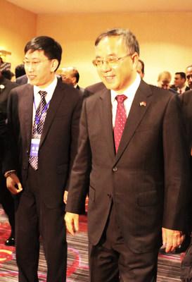 Guangdong Provincial Committee Secretary Hu Chunhua's meeting with Chen Ting