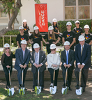Orange County School of the Arts breaks ground on $20 million Instructional Center and names Marybelle Musco Dance Center. (left-right) Dr. Sherry Opacic, Dr. Ralph S. Opacic, S. Paul Musco, Marybelle Musco, Michal Mekjian, Jr. and Doug Garn (PRNewsFoto/Orange County School Of The Arts)