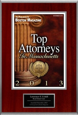Attorney Lawrence Uchill Selected for List of Top Rated Lawyers in Massachusetts.