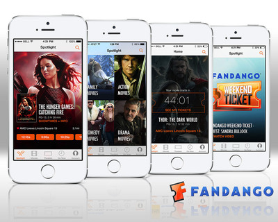 Fandango launches the first iOS 7 movie ticketing app. (PRNewsFoto/Fandango) (PRNewsFoto/FANDANGO)