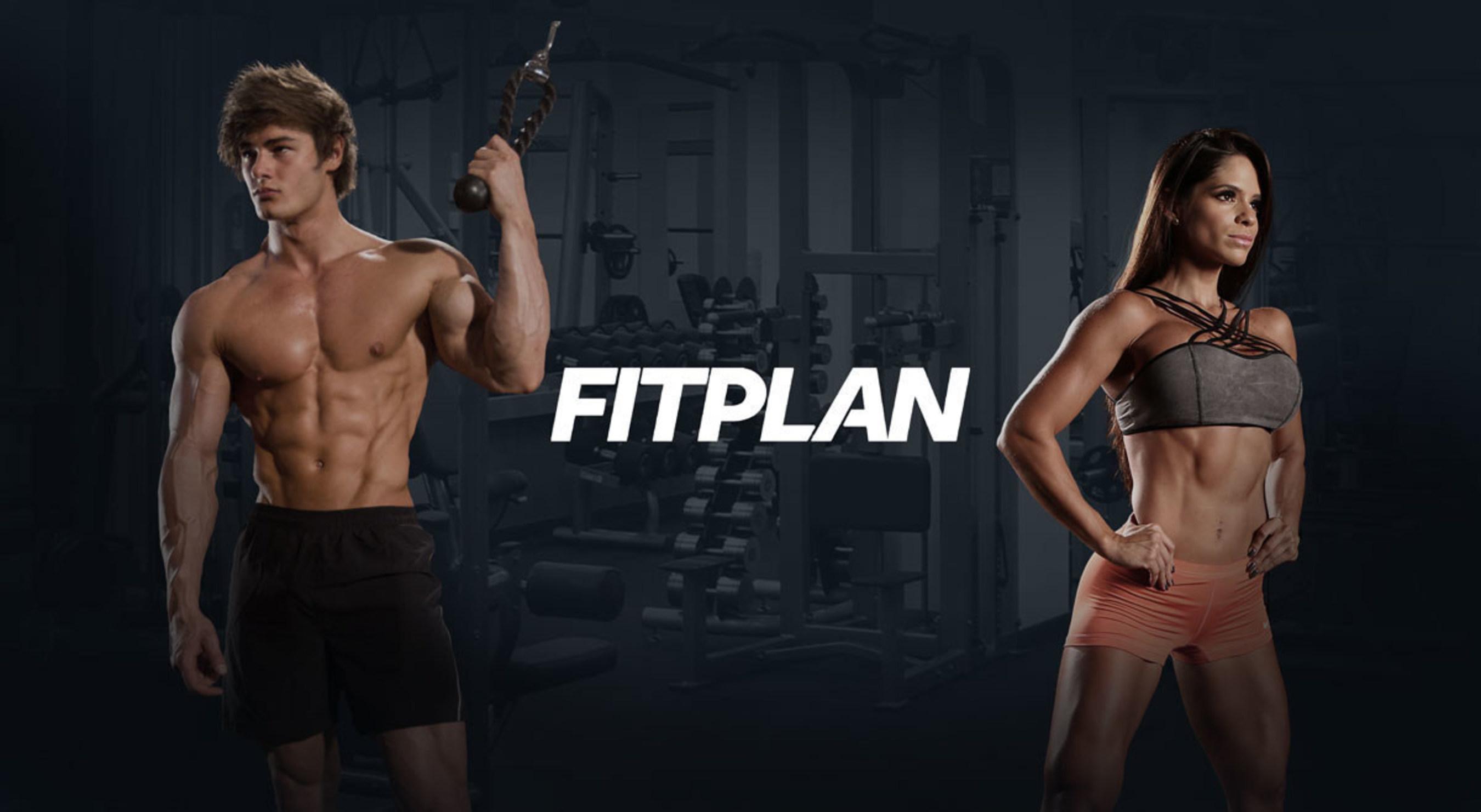 A Fitplan gym banner.