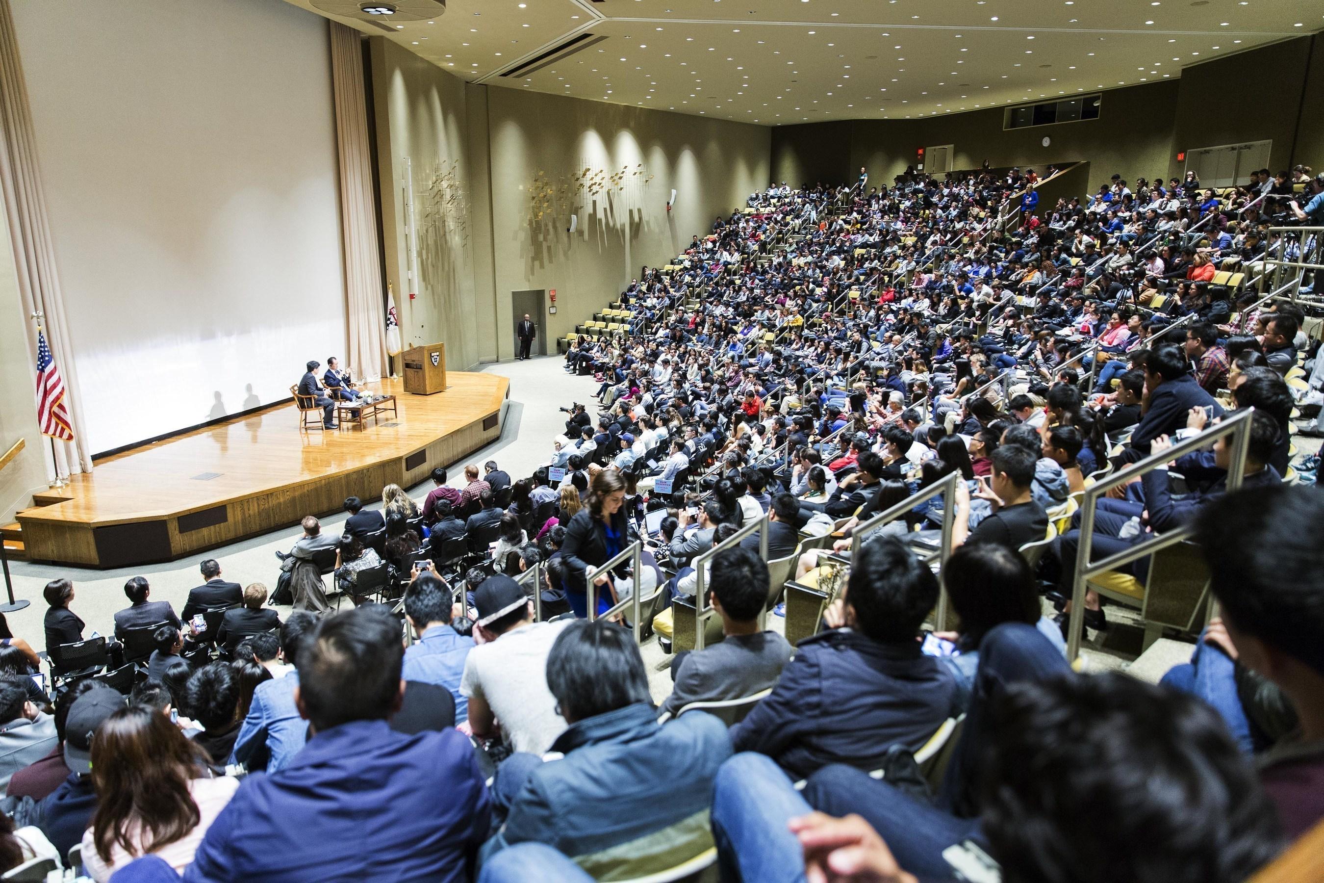 Wanda Dalian Chairman Wang Jianlin Gives a Lecture at Harvard