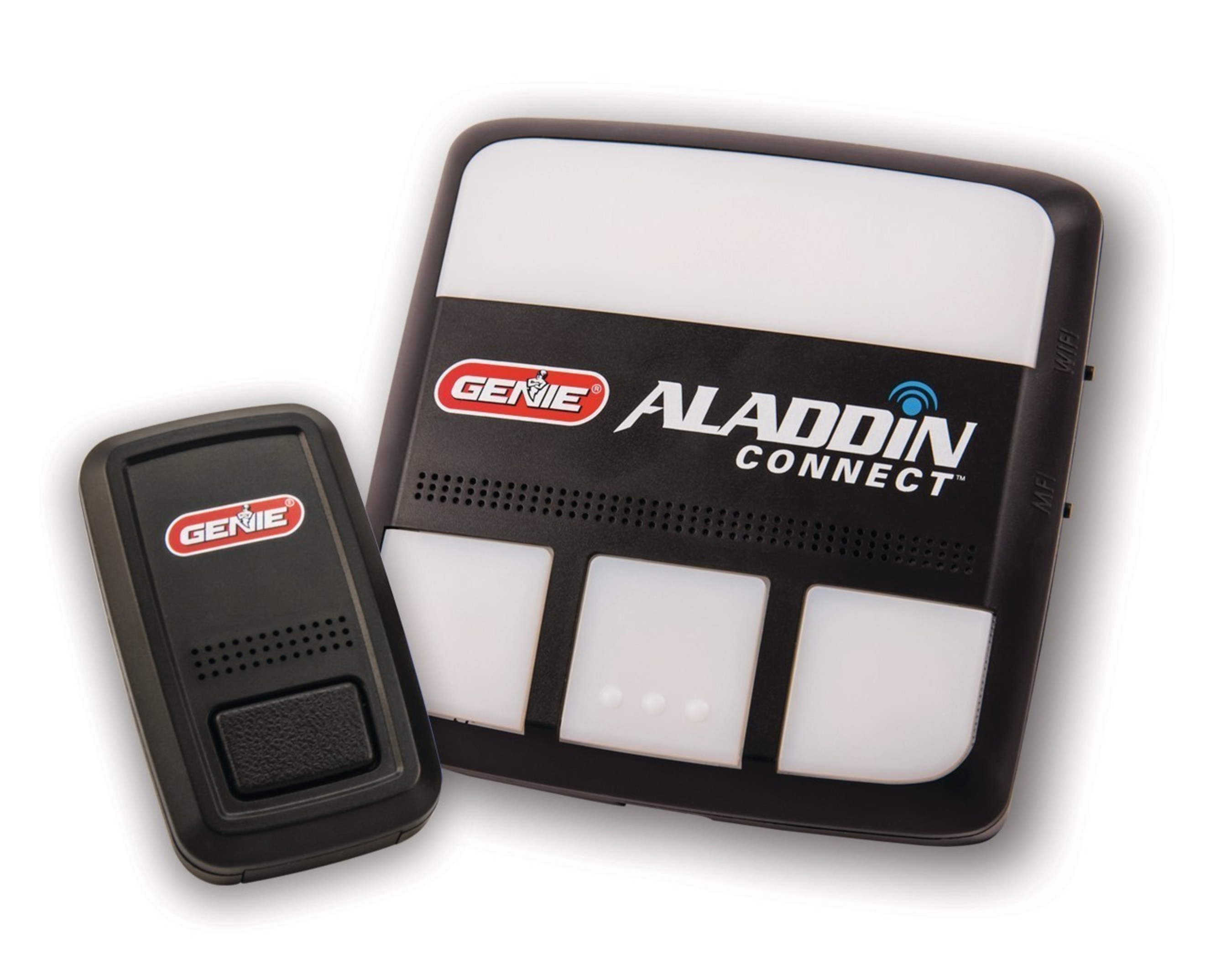 The Wi-Fi(R) enabled control module of the Aladdin Connect system can be used in conjunction with, or in place of, the opener's standard wall console.