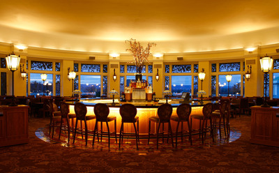 Evening image of the new bar at The Circular located at The Hotel Hershey in Hershey, PA.