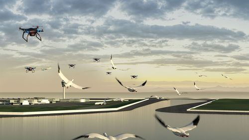 """Japan âeuro"""" Team BIRDPORT from The University of Tokyo came up with a new approach to guide birds from airports to a comfortable habitat, reducing bird strikes to aircraft and enhancing aircraft availability. (PRNewsFoto/Airbus)"""