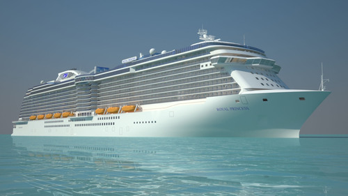 Princess Cruises Previews Newest Ship as First Steel Plate is Cut in Shipyard
