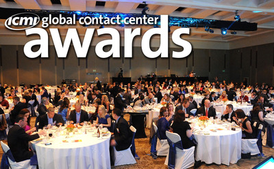 Contact Center Expo & Conference attendees can choose to add the ICMI Global Contact Center Awards Dinner to their registration and partake in a semi-formal celebration of those in the industry who have demonstrated leadership, vision, innovation and strategic accomplishments within the contact center industry. The Awards Dinner takes place Wednesday, May 7 in San Diego.  (PRNewsFoto/International Customer Management Institute (ICMI))