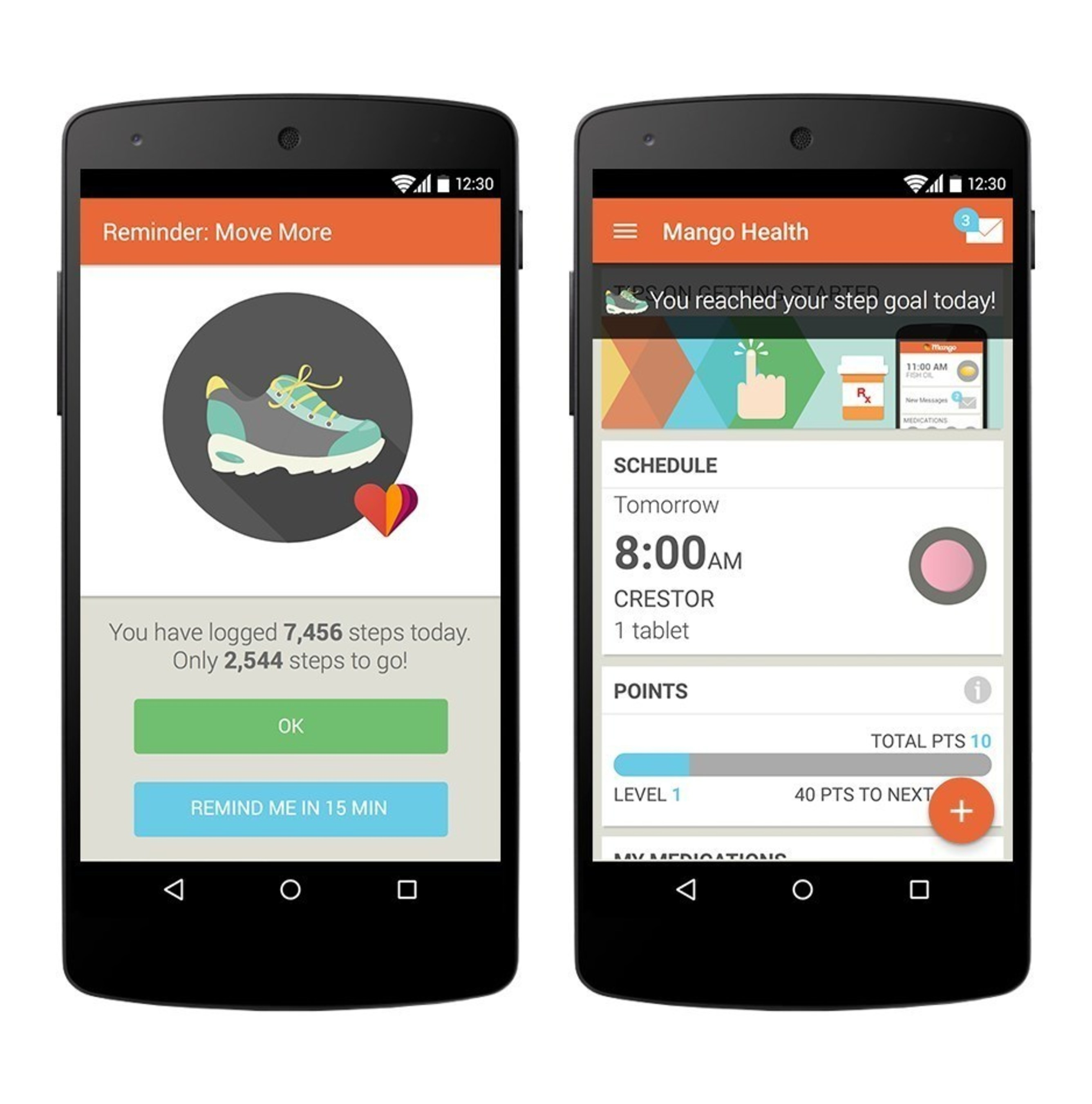 As part of the new Mango Health Habit features, the company is announcing an integration with the Google Fit health tracking platform. As announced today at the Google I/O developer conference, Google Fit members on select Android devices will be able to access their walking and running activity in the Mango Health Android application. Daily steps walked activity will be integrated into the Mango Health points tracking and reward systems, providing an engaging experience around building and maintaining healthy habits.