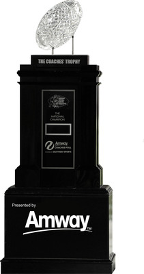 AMWAY SPONSORS USA TODAY COACHES POLL & AFCA COACHES' TROPHY.  (PRNewsFoto/Amway North America)
