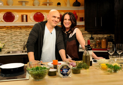 Michael and Liz Symon share the recipe for romance this Valentine's Day with Castello(R) cheeses. Copyright - Diane Bondareff Photography. (PRNewsFoto/Castello) (PRNewsFoto/CASTELLO)