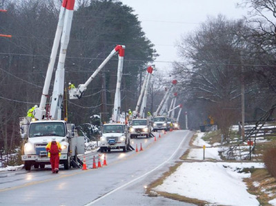 Georgia Power storm teams assisting out-of-state utilities after violent 2012 weather.  (PRNewsFoto/Georgia Power)