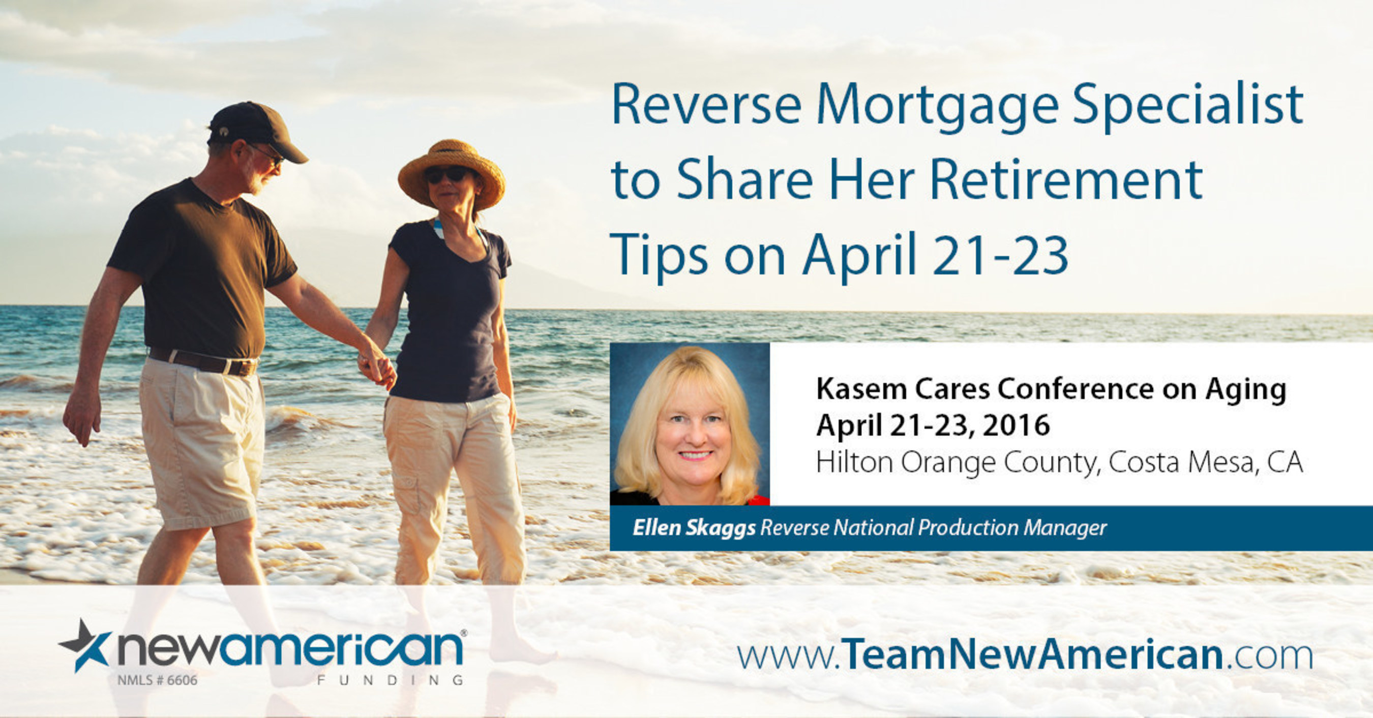 New American Funding's Ellen Skaggs to Speak at Kasem Cares Conference on Aging.