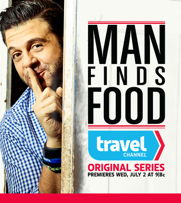 "New Travel Channel series ""Man Finds Food"" with Adam Richman premieres July 2. (PRNewsFoto/Travel Channel)"